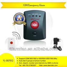Good quality GSM Elderly Guardian, Senior Guard, SOS Panic Button, Medic Alert, Home Safety Alarm System--YL-007EG