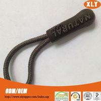 Custom design unique artwork embossed design personalized string zipper puller