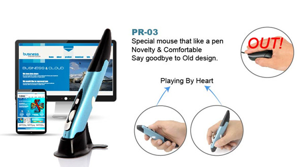 New arrival cheap 2.4G wireless USB handwriting pen mouse PR-03