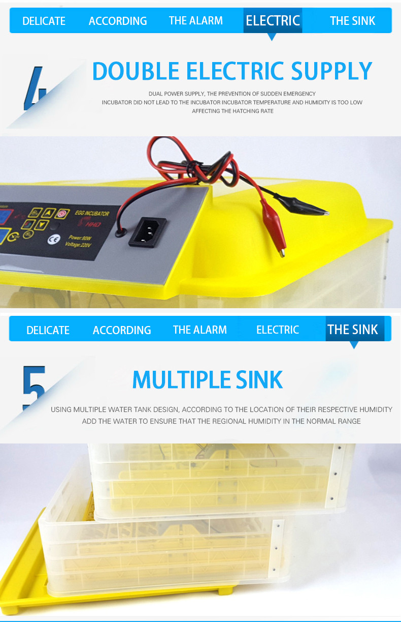 110 V, 220 V, 220 + 12 V preço completa mini incubadora automática do ovo/ovo de galinha incubadora de ovos para incubação máquina CE aprovado