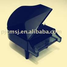 black crystal piano model /music instrument for gift favors .crystal music box