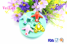 Silicone Fondant Mold 2015 Fish Shaped Mold Decorations Cooking Cake Tools For Cakes Jinhua VeiLei Baking Tool Factory