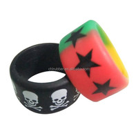 Fashion womens letter silicone rubber finger ring