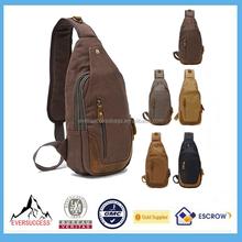 Vintage Men's Canvas Bulk Sling Bag Messenger Shoulder Bag Chest Pack