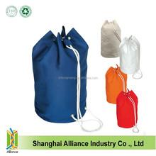 Fashion hot sale eco friendly cotton canvas drawstring travel hiking cinch bags