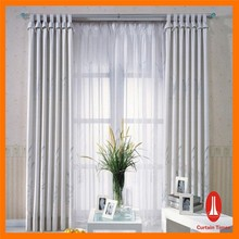 Curtain Times fancy organza embroidered sheer curtains with remote control system