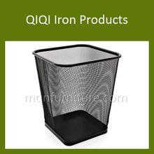 fashionable high quality powder coated iron waste basket
