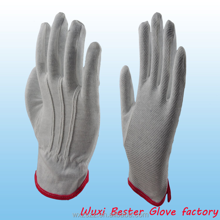 High quality slip proof polka dot cotton glove