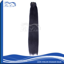 Best Selling Direct factory Remy Hair Clip in Hair Extension Natural Color 1B Clip in Virgin Human European Hair Extensions
