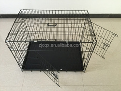 high quality double doors folding metal dog kennel