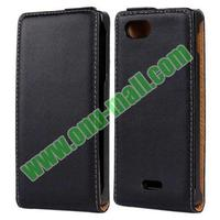Up and Down Flip Pattern Genuine Leather case for sony xperia p lt22i case Lt22i