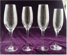 S4 Elegantl mouth blown crystal champagne glass for banquet / resterant/bars