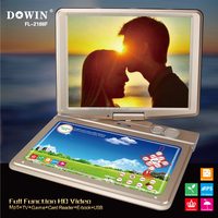 touch panel new portable dvd player 15'' portable dvd player wholesale PDVD new design model hot sale 14inch dvd