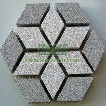 grau sechseck pflastersteine