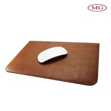 Custom slim universal tablet sleeve for 7''-10'' laptop, genuine leather slim tablet sleeve used for mouse pad
