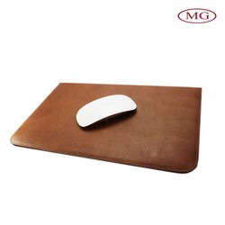 Custom slim universal tablet sleeve for 7''-10'' laptop, genuine leather slim tablet sleeve used for mouse pad