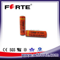 ER14505H 3.6V lithium battery AA size with capacity 2700mAh