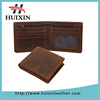 Crazy horse leathe wallet for men travel wallet with zipper and id window