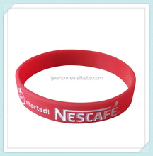 brand promotion rubber bracelet gifts cheap custom silicone rubber wristband