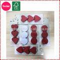 En forma de corazón de confeti de seda para la boda decorado etapas