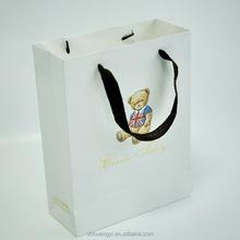 Eco friendly custom printed foil shopping gift paper bag