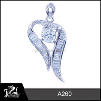 Fantastic Mothers' day gift Chinese wholesale jewelry charm 925 silver pendant with AAA CZ