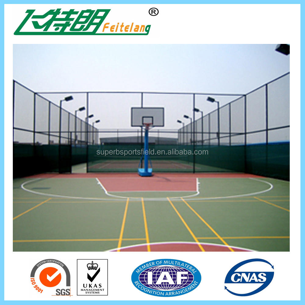 Silicon Pu Sandwich System Sport Court Flooring Basketball