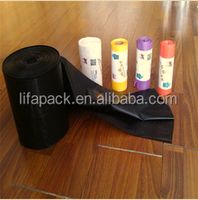 HDPE factory direct continuous garbage roll bags in China