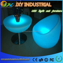light up PE rechargeable RGB color changeable IP68 Waterproof durable remote control Single Lounge Seat For Hotel