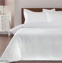 Modern white color bed sheet&bedding set for Star Hotels and Hospitals