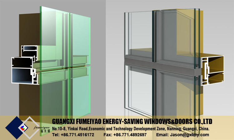 Commercial Building Hidden Framing Frameless Glass Curtain