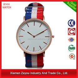 R0792 (*^__^*) fancy Unisex 5atm water resistant watch,nylon band 5atm water resistant watch