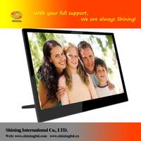 Shininglcd hanging full hd 1080p fc ce bulk 14 inch car auto rotate gif ips panel digital photo frame