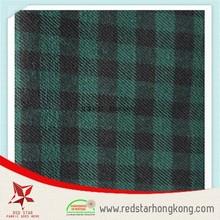 Double strand 100% cotton fabric textile Cotton check design fabric