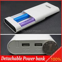 2015 mobil Bank power bank 12000mah V8-4 2 in 1 power bank