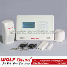 2012 Hot!Pure white color home burglar alarm system with touch keypad