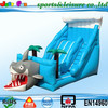 EN14960 shark inflatable slide, 0.55mm PVC giant slide for sale, dry inflatable slide