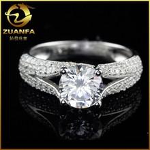 micro pave zirconia aaaaa 925 silver cz imitation jewelry