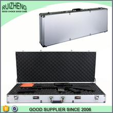 New design gun box aluminum leather gun case