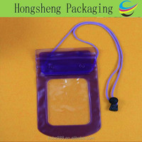 Wholesale waterproof plastic bag for phone/phone protective bag with dual zippers