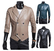 Liling design man pure leisure double breasted coats