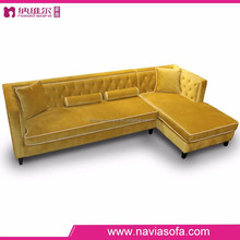 contemporary comfortable fabric microfiber classic yellow modern sofa sectionals for family