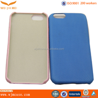 OEM Soft Touch PC Back Thin Protective Leather Cover For IPhone 6/ Plus Supplier