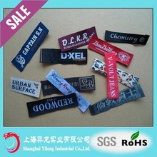 Fast Shipping Custom Printed Clothing labels, Fabric Printed Satin Labels for clothing BD416