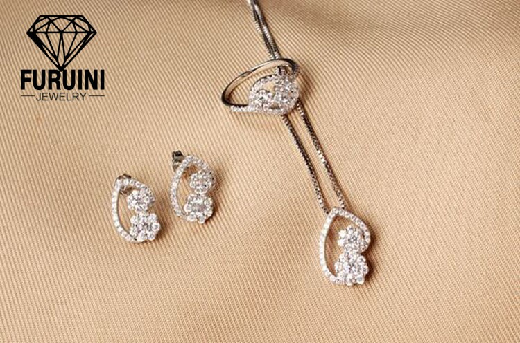 웨딩 Jewelry Set 18 천개 금 Plated 패션 Biidal Jewelry Set 대 한 Wedding Jewelry