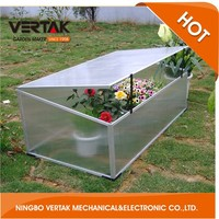 Good services aluminium cold frame diy garden greenhouse