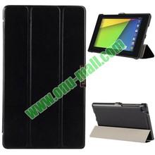 3-folding Crazy Horse Texture Leather Case for Google Nexus 7 II with Holder, Case Cover for Google Nexus 7 II, for Nexus 7 II