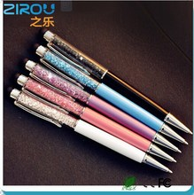 Lovely Crystal pen Diamond ballpoint pens Stationery ballpen 2 in 1 crystal stylus pen touch pen