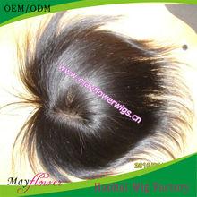 invisible thin skin Virgin Human Hair Men's Toupee no tangle&shedding virgin peruvian hair