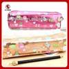 Promotion school pencil case,PU pencil box ,zipper pencil case